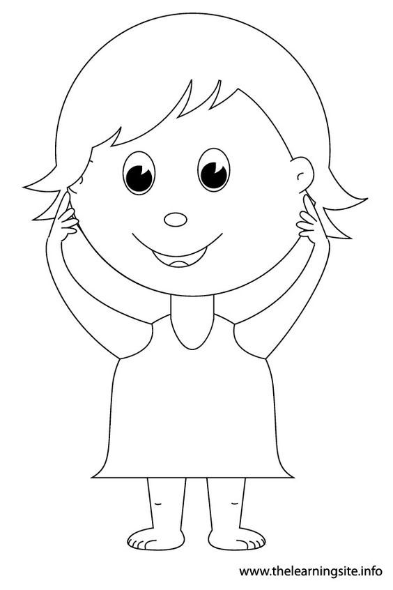 preschool body parts coloring body parts coloring pages for preschool at getcolorings body parts preschool coloring