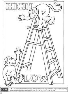 preschool opposites coloring pages opposites hot and cold coloring page twisty noodle opposites coloring pages preschool