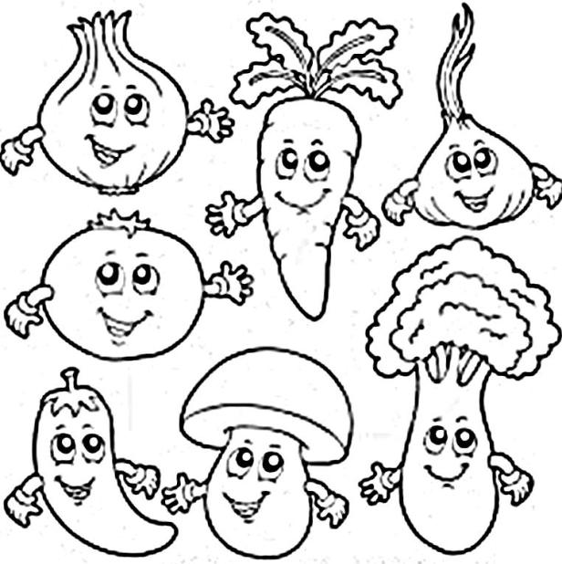 preschool vegetable coloring pages vegetable coloring pages free download on clipartmag vegetable coloring pages preschool
