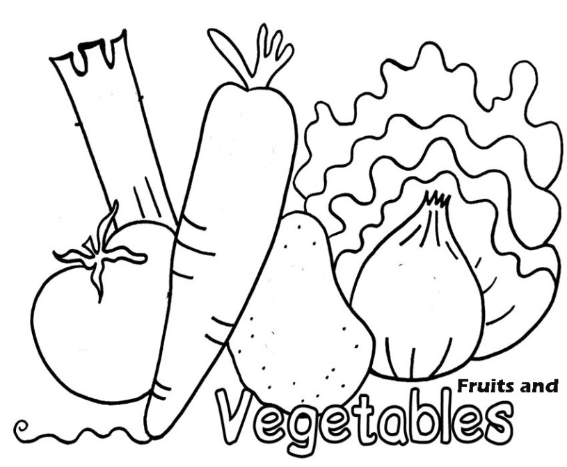 preschool vegetable coloring pages vegetables picture to print and color educational vegetable coloring pages preschool