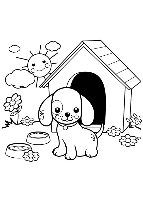 print a dog adorable puppy coloring pages at getcoloringscom free a dog print