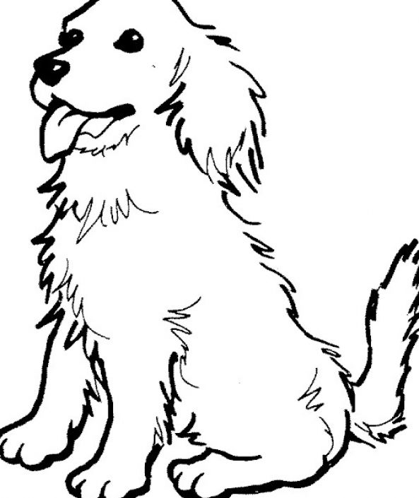 print a dog free printable dog coloring pages for kids print a dog