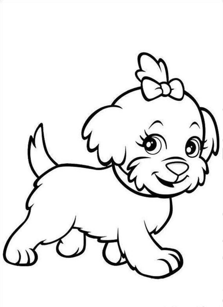 print a dog free printable puppies coloring pages for kids dog a print