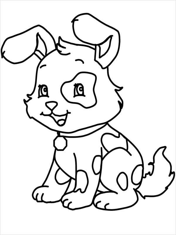 print a dog puppy cute puppy coloring pages a dog print