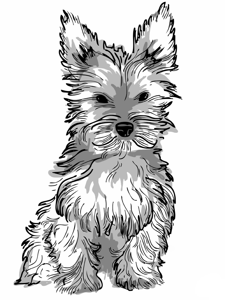 print a dog realistic puppy coloring pages download and print for free a dog print