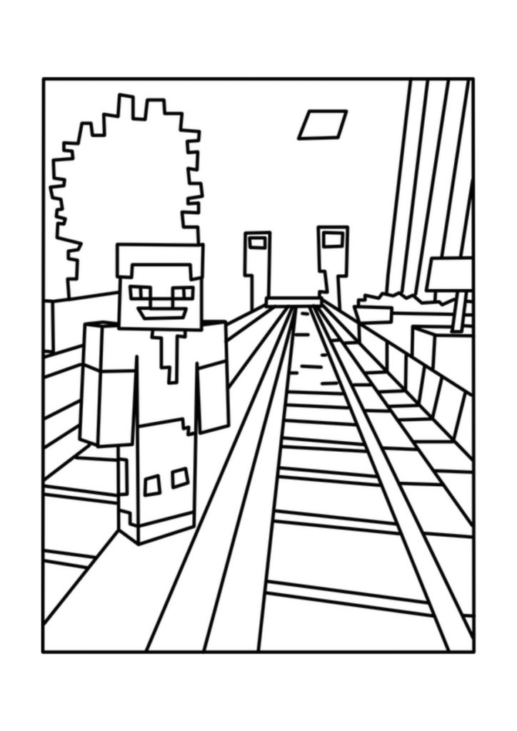 print minecraft pictures minecraft iron golem coloring pages at getcoloringscom pictures print minecraft