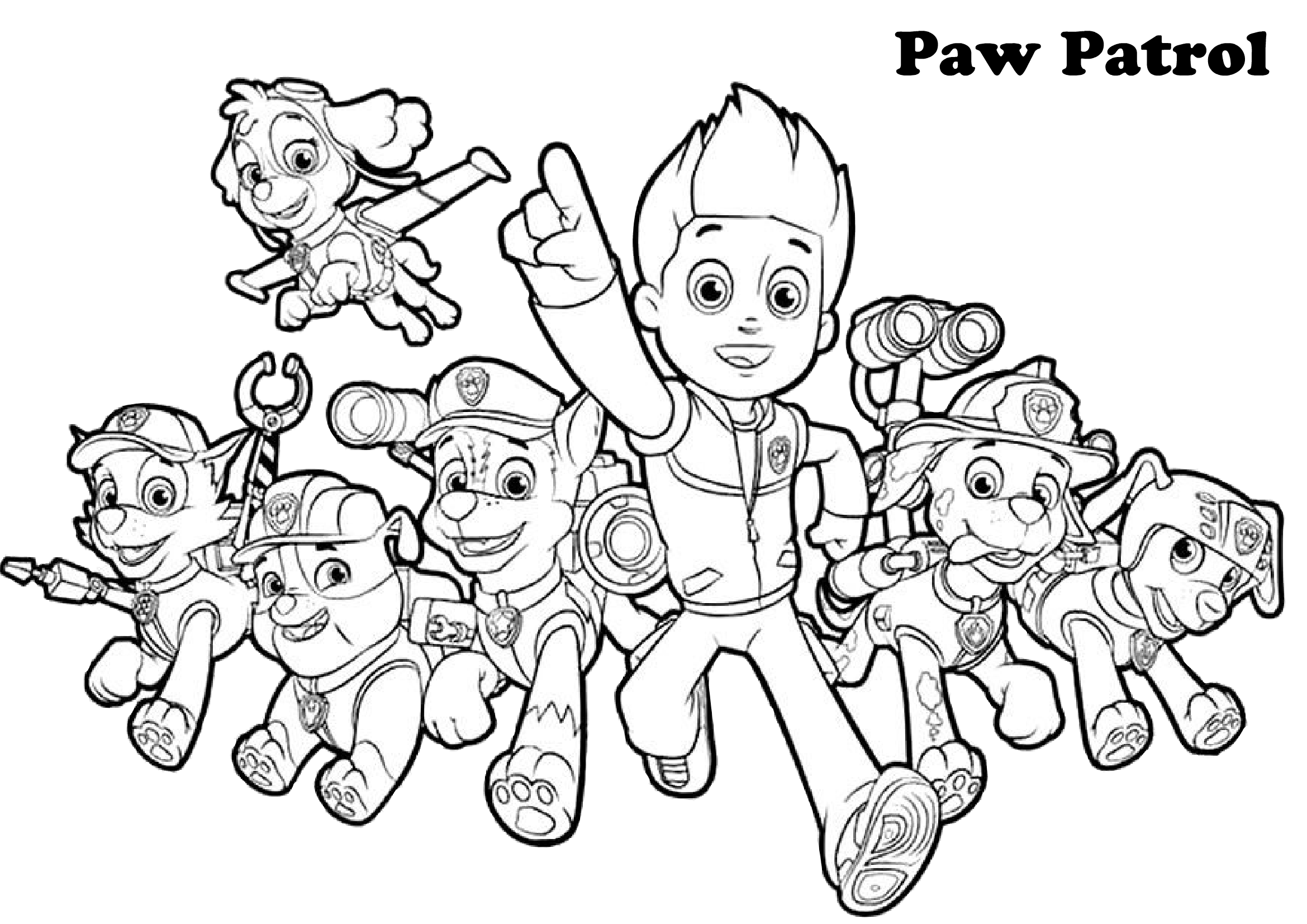 print paw patrol coloring pages paw patrol coloring pages print and colorcom pages print paw coloring patrol