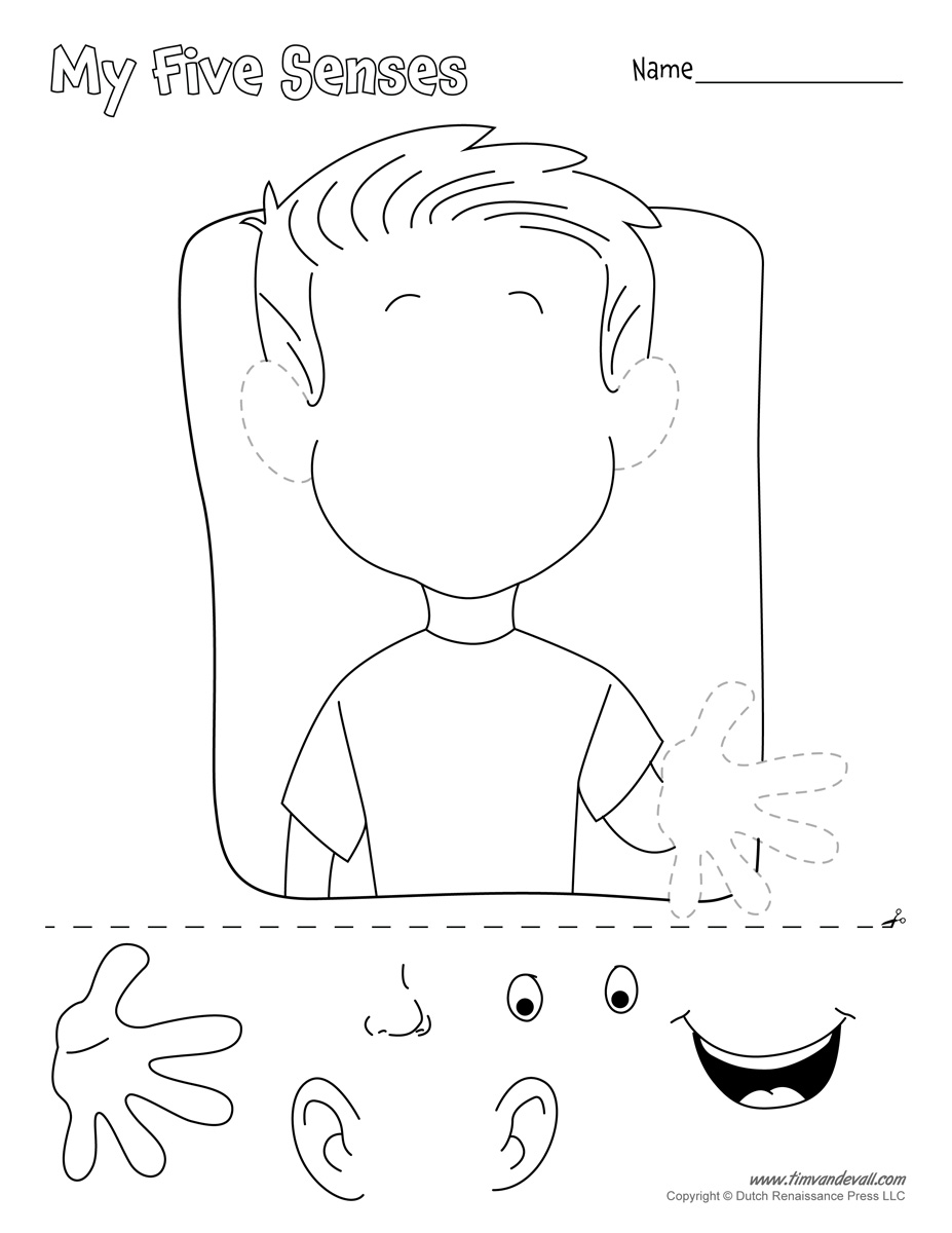 printable 5 senses coloring pages 16 best images of worksheets our five senses free senses coloring 5 printable pages