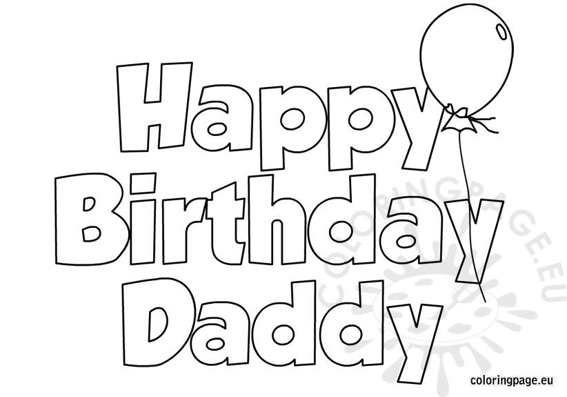 printable coloring birthday cards for dad happy birthday card with cat cupcake coloring page for dad printable birthday for coloring cards