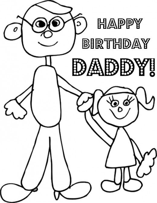 printable coloring birthday cards for dad happy birthday dad coloring page coloring page coloring printable for birthday dad cards