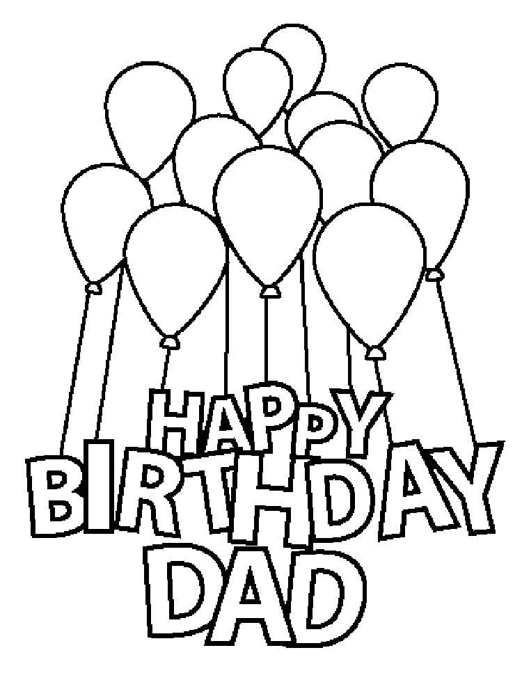 printable coloring birthday cards for dad happy birthday dad coloring page free printable coloring dad printable coloring birthday cards for