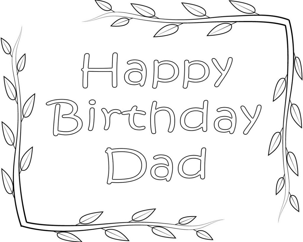 printable coloring birthday cards for dad happy birthday dad coloring pages printable k5 printable for dad birthday coloring cards