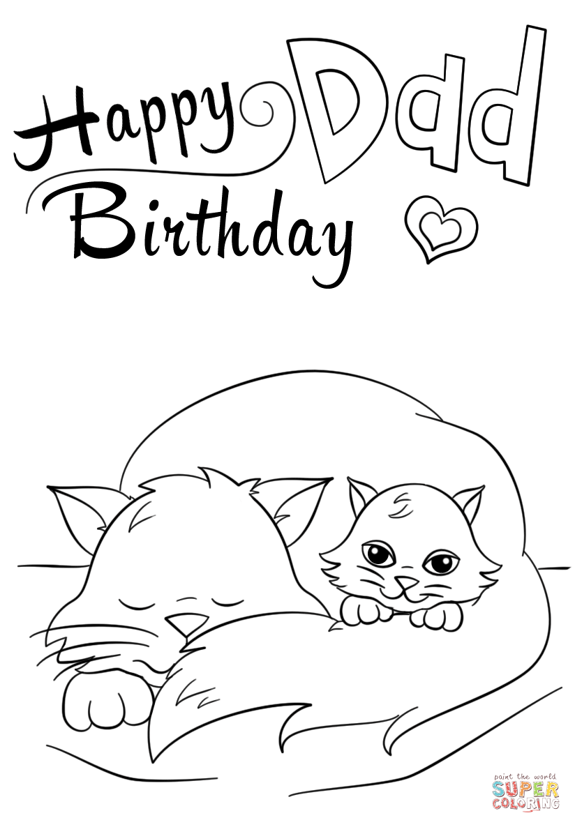 printable coloring birthday cards for dad happy birthday daddy coloring coloring page cards coloring printable birthday dad for