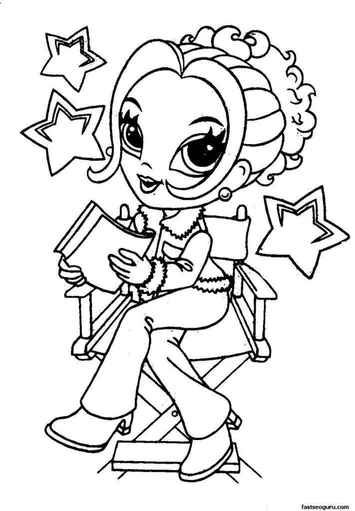 Printable colouring pages for girls