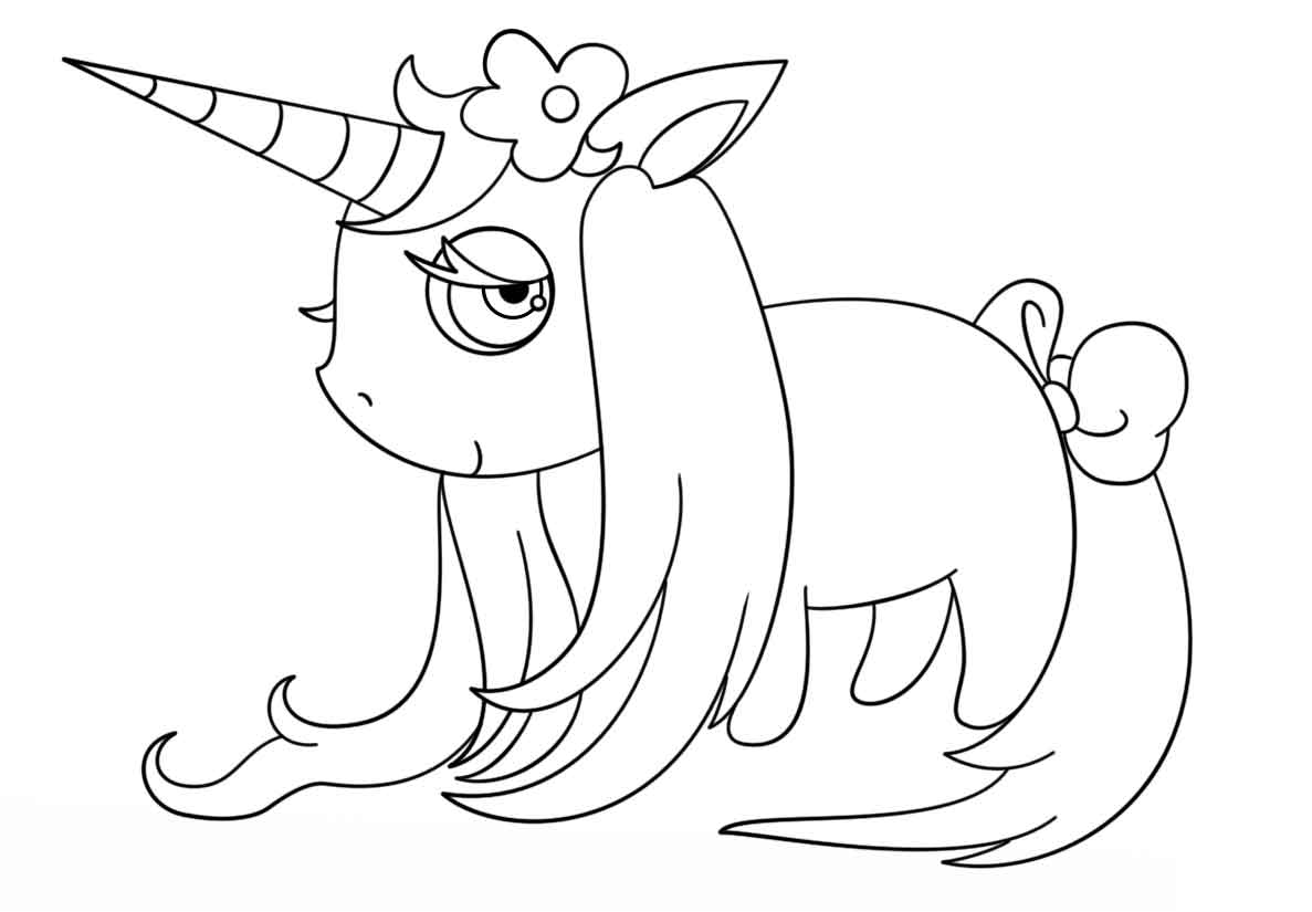 printable cute unicorn coloring pages baby unicorn coloring pages free printable for kids printable cute unicorn coloring pages