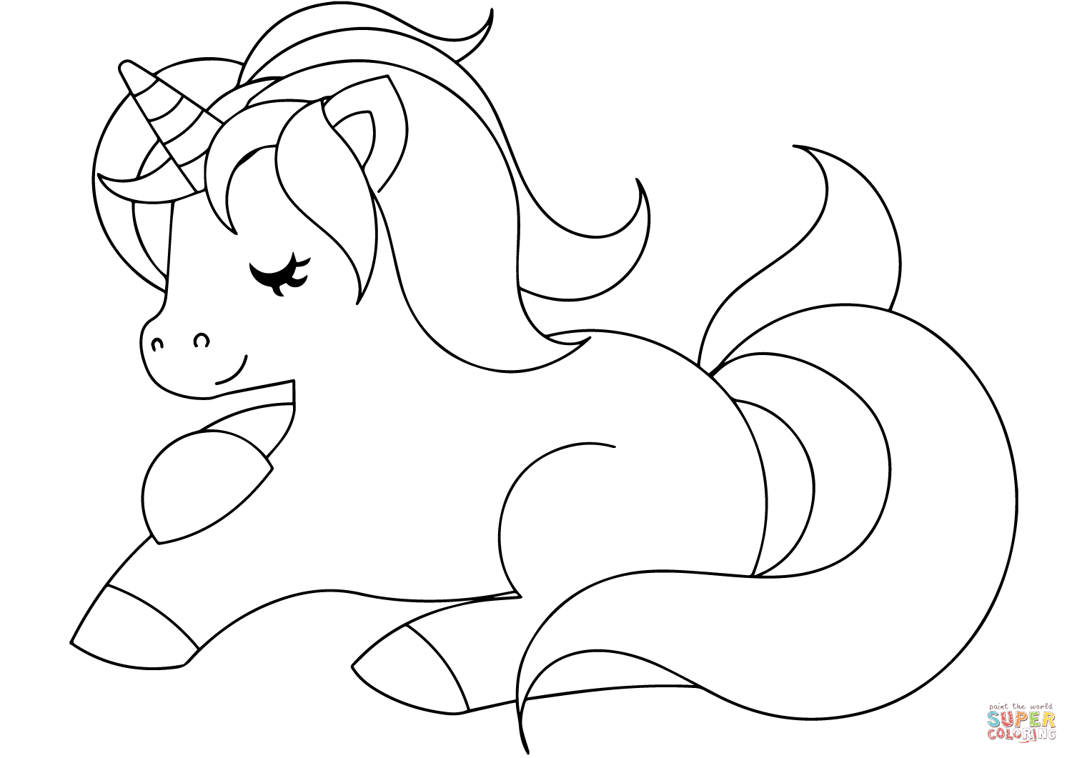 printable cute unicorn coloring pages cute unicorn coloring page free printable coloring pages pages printable cute unicorn coloring