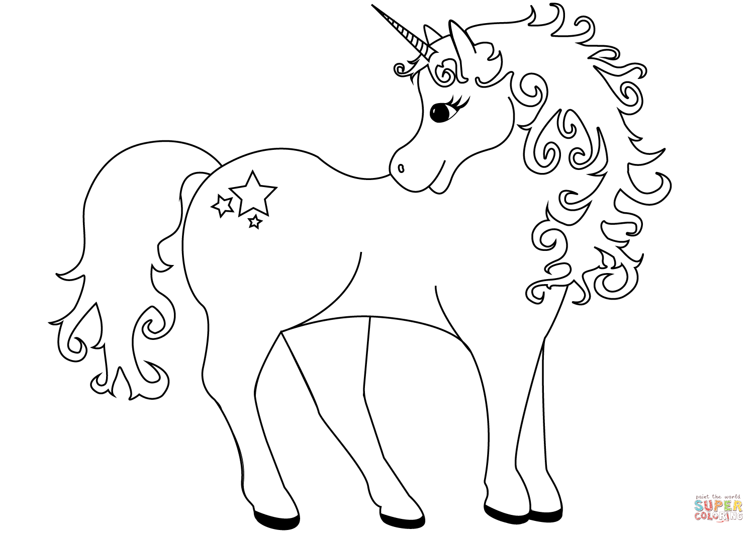 printable cute unicorn coloring pages cute unicorn coloring pages at getdrawings free download unicorn pages printable coloring cute