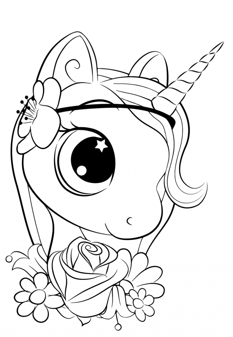 printable cute unicorn coloring pages cute unicorn coloring pages for kids in 2020 unicorn unicorn pages printable coloring cute