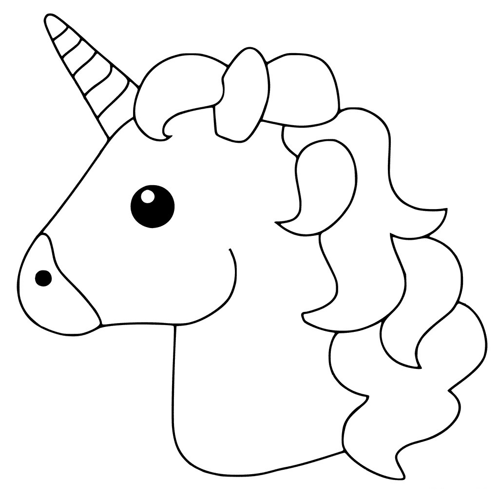 printable cute unicorn coloring pages simple unicorn39s head coloring page free printable cute printable unicorn coloring pages