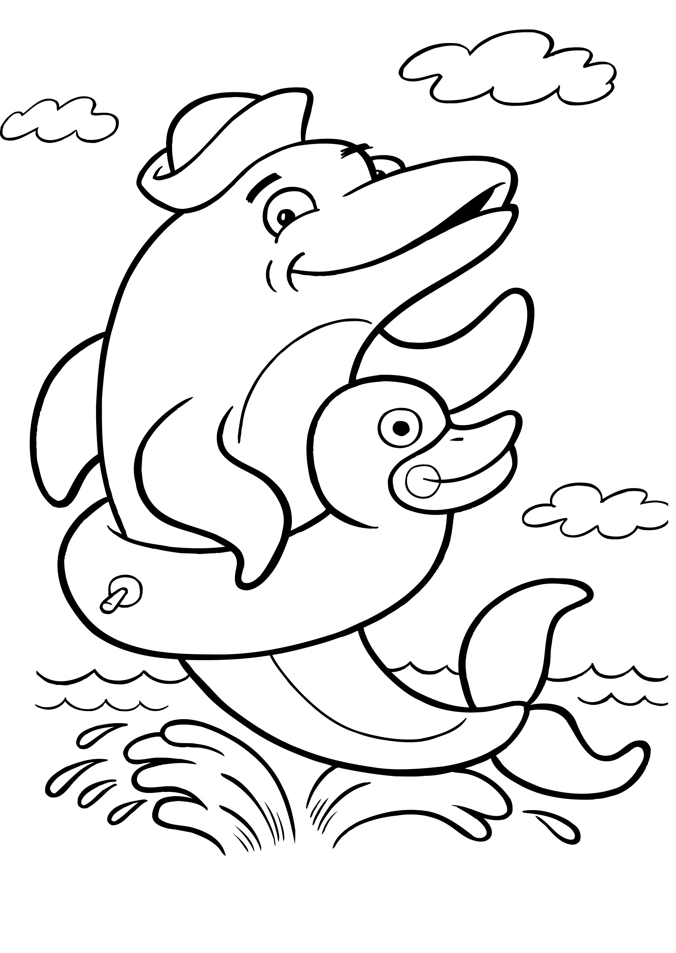 printable dolphin coloring pages printable dolphins animal coloring pages kentscraft pages coloring dolphin printable