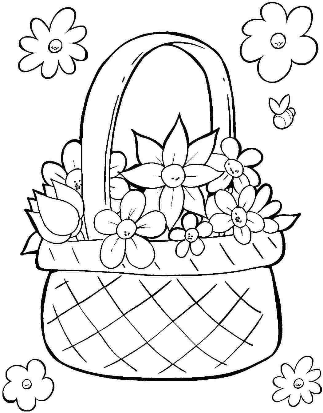 printable easter coloring pages easter basket printable coloring pages at getcoloringscom easter pages coloring printable