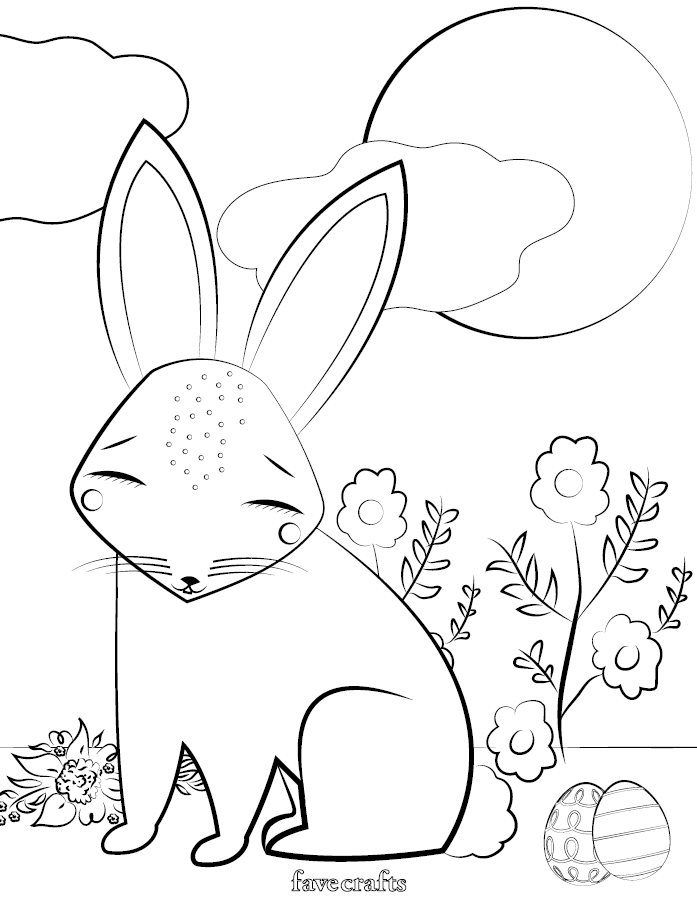 printable easter coloring pages free printable easter bunny coloring page favecraftscom pages easter printable coloring