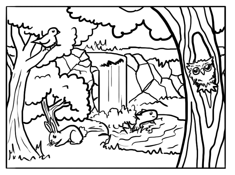 printable forest pictures rainforest coloring pages to download and print for free pictures printable forest