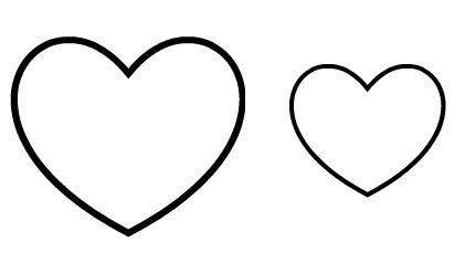 printable heart pictures free printable heart shapes coloring home printable heart pictures