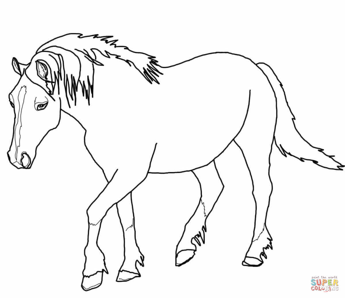 printable horse colouring pages horses a cute horse running in the farm coloring page pages colouring printable horse