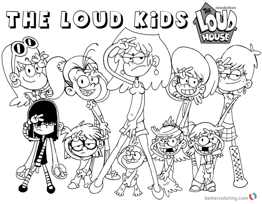 printable loud house coloring pages loud house coloring pages characters free printable pages printable loud coloring house