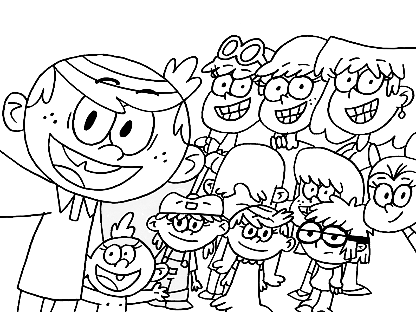 Printable loud house coloring pages