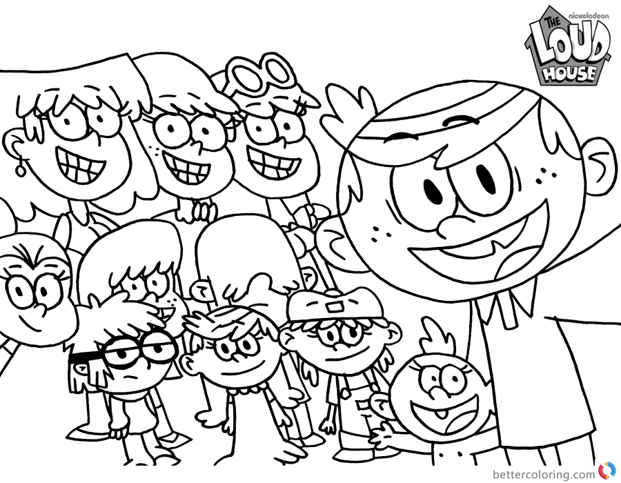 printable loud house coloring pages the loud house coloring sheets get coloring pages coloring loud printable pages house