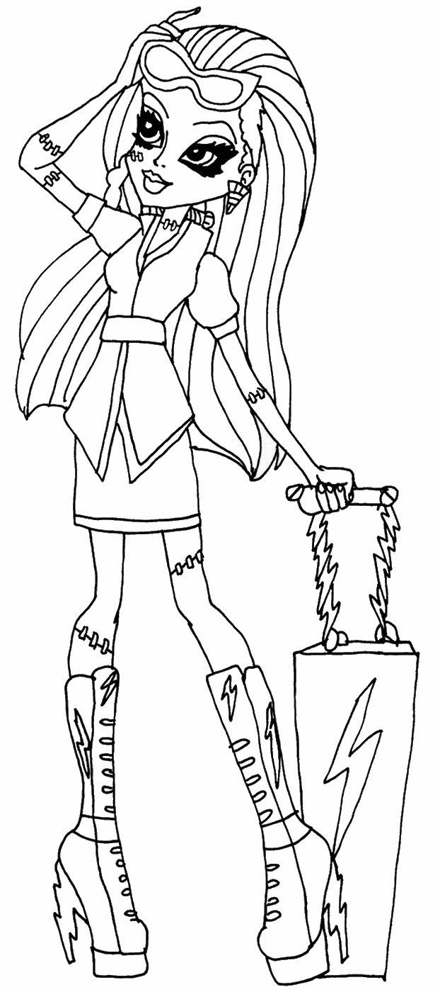 printable monster high coloring pages free printable monster high coloring pages coloring high monster printable pages