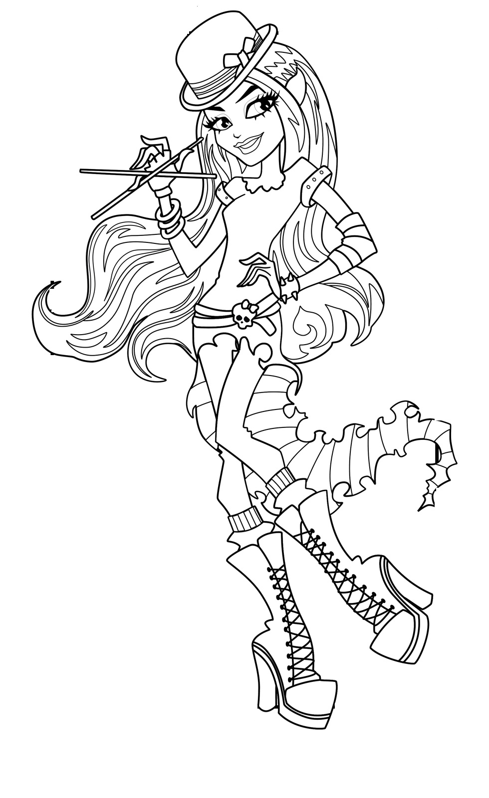 printable monster high coloring pages free printable monster high coloring pages february 2013 printable high coloring monster pages
