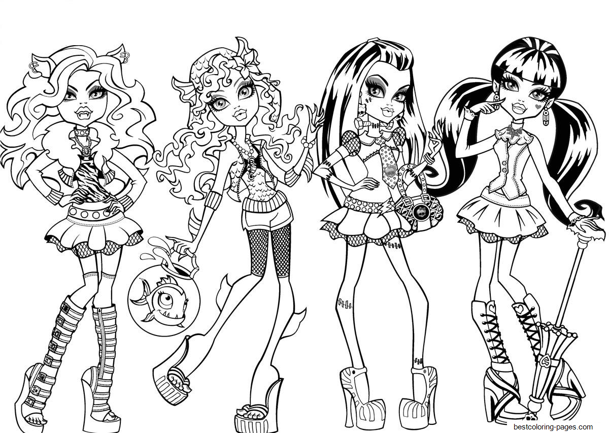 printable monster high coloring pages monster high coloring pages download and print monster coloring printable high pages monster