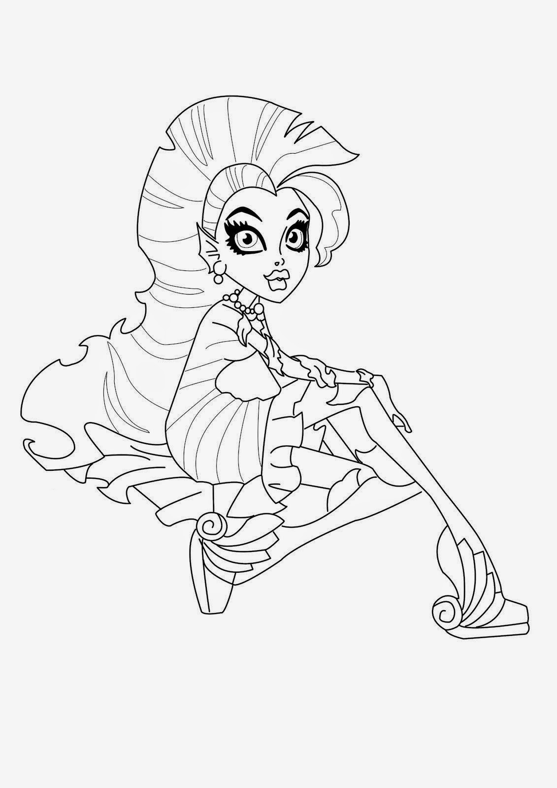 printable monster high coloring pages monster high coloring pages download and print monster printable high monster pages coloring