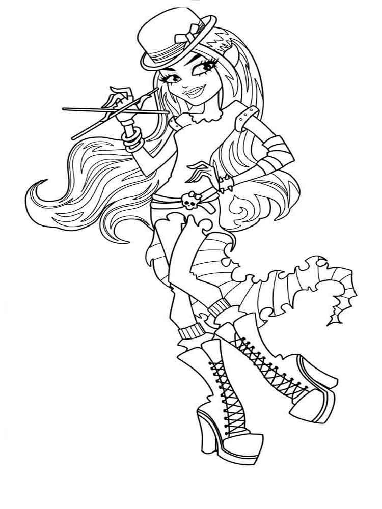 printable monster high coloring pages monster high draculaura coloring pages getcoloringpagescom high coloring monster printable pages