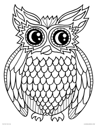 printable owl images coloring pages images printable owl