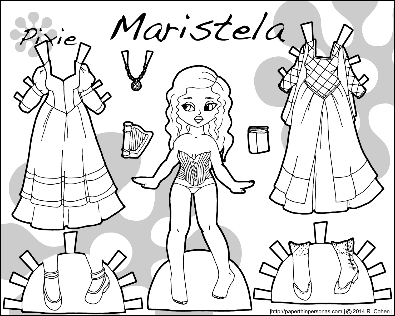 printable paper doll audra a printable paper doll in black and white and in doll paper printable