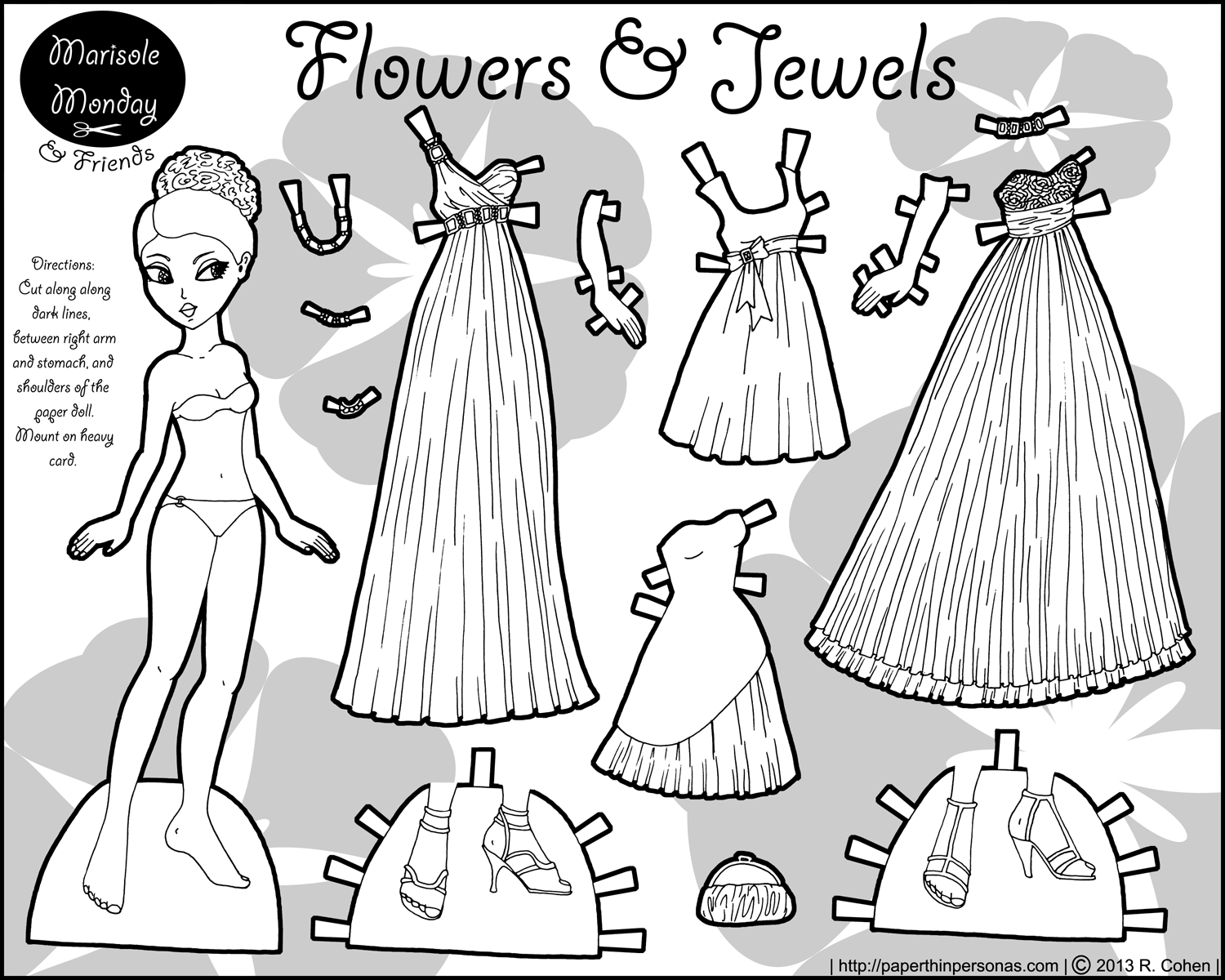 printable paper doll four paper dolls in black and white for coloring doll paper printable