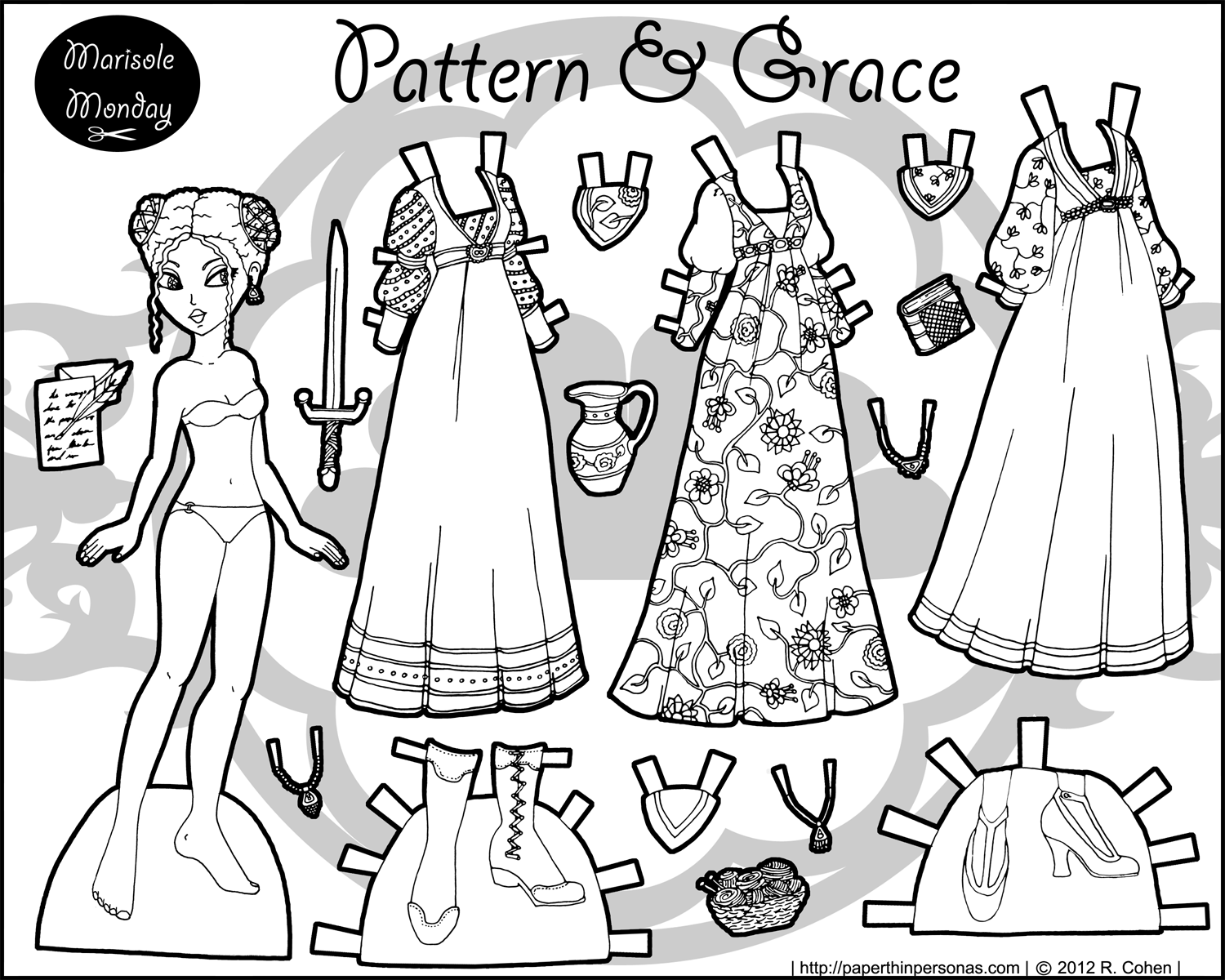 printable paper doll paper dolls coloring pages download and print paper dolls printable paper doll