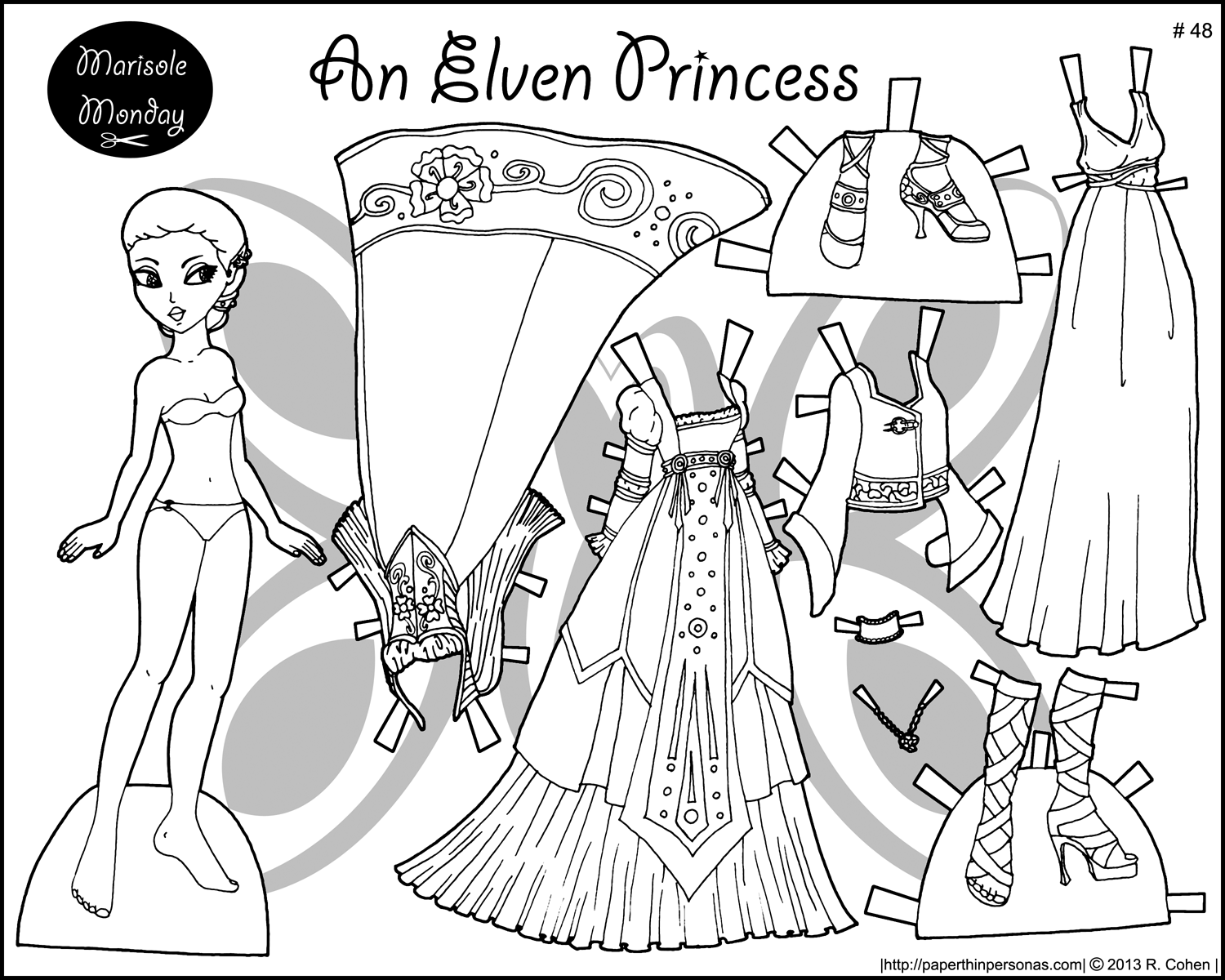 printable paper doll simple sophisticate a paper doll in black and white printable paper doll