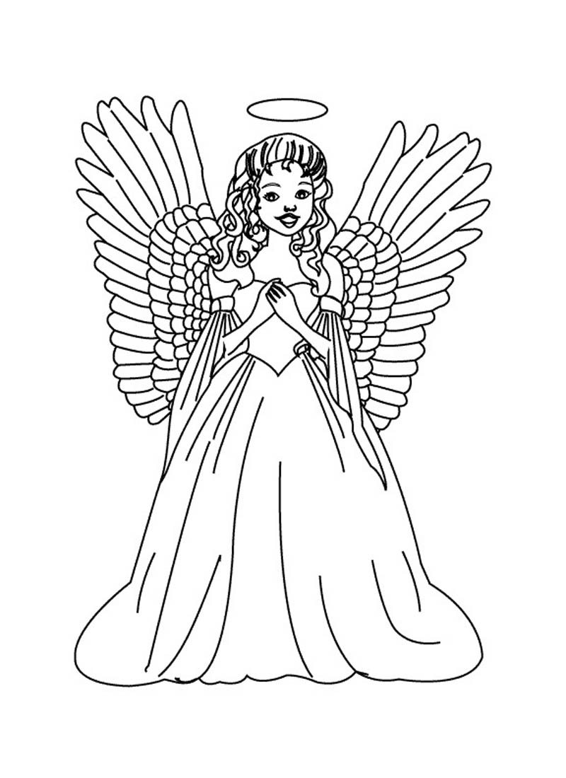 printable pictures of angels free printable angel coloring pages for kids of printable angels pictures 1 1