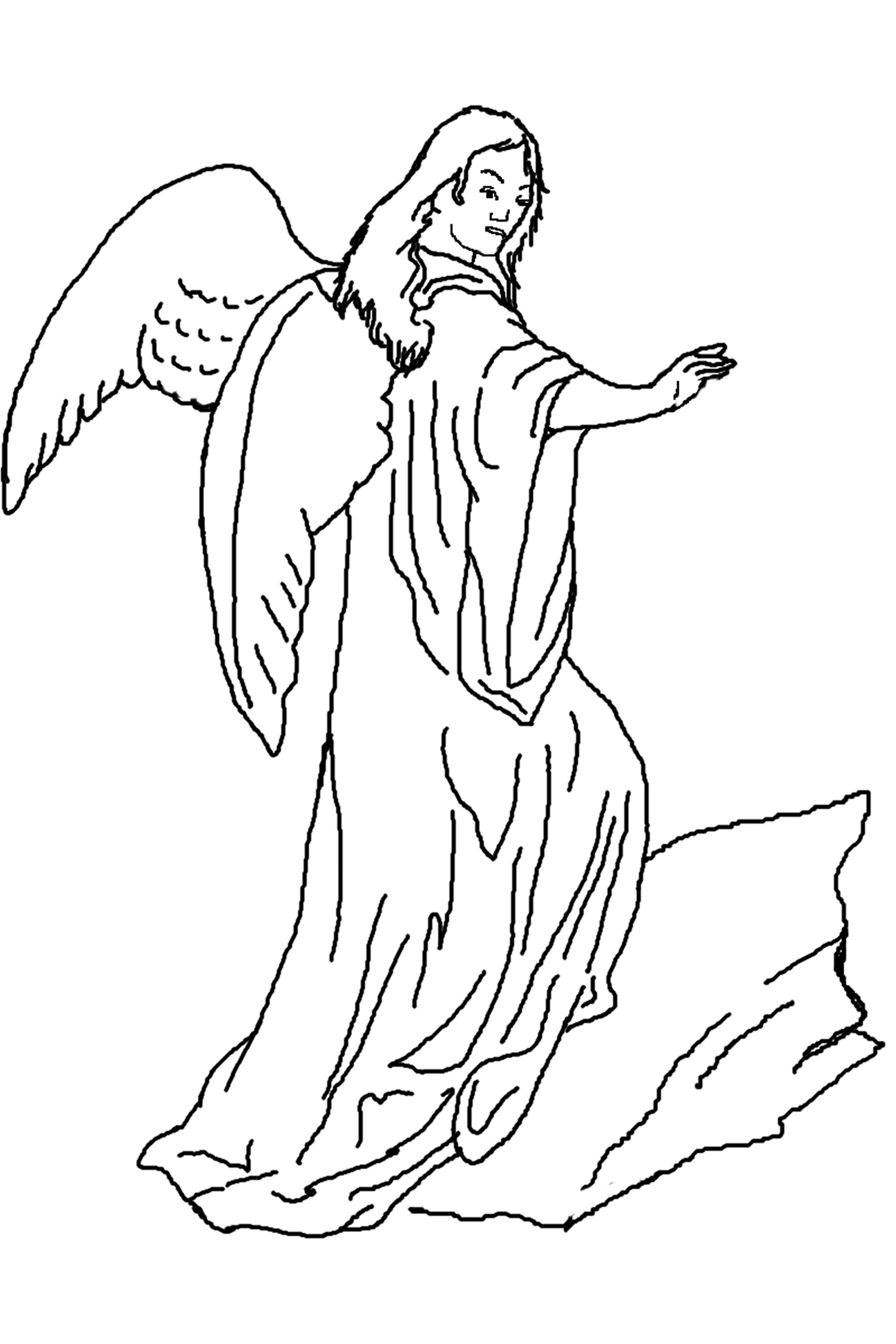printable pictures of angels printable angel coloring pages for adults at getcolorings angels of pictures printable