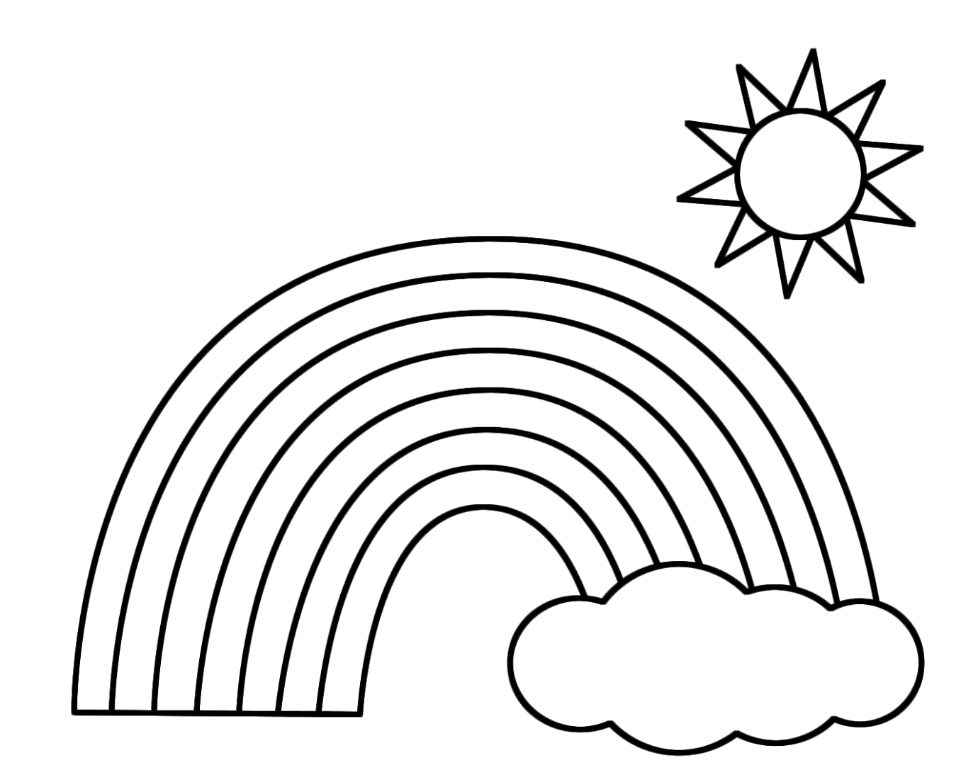 printable rainbow coloring page rainbow coloring pages for childrens printable for free printable coloring rainbow page