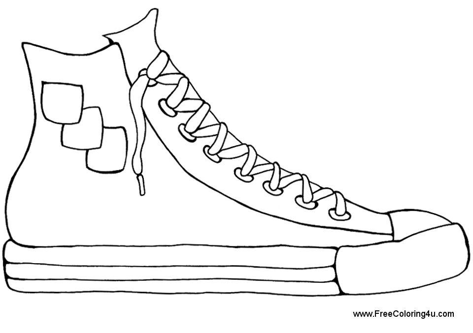 printable shoes coloring pages shoes printable coloring home printable shoes
