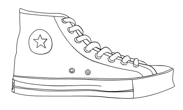 printable shoes high heel coloring pages at getdrawings free download shoes printable