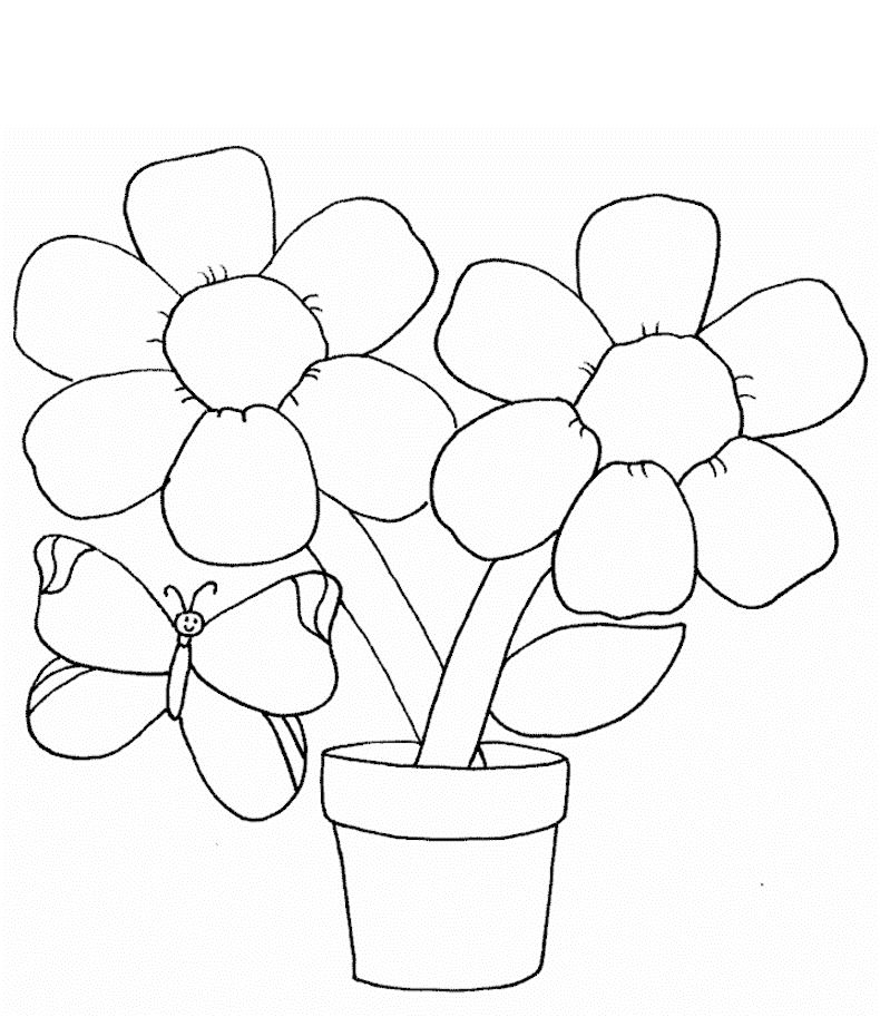 printable simple flower coloring pages basic flower coloring pages at getcoloringscom free printable simple coloring flower pages