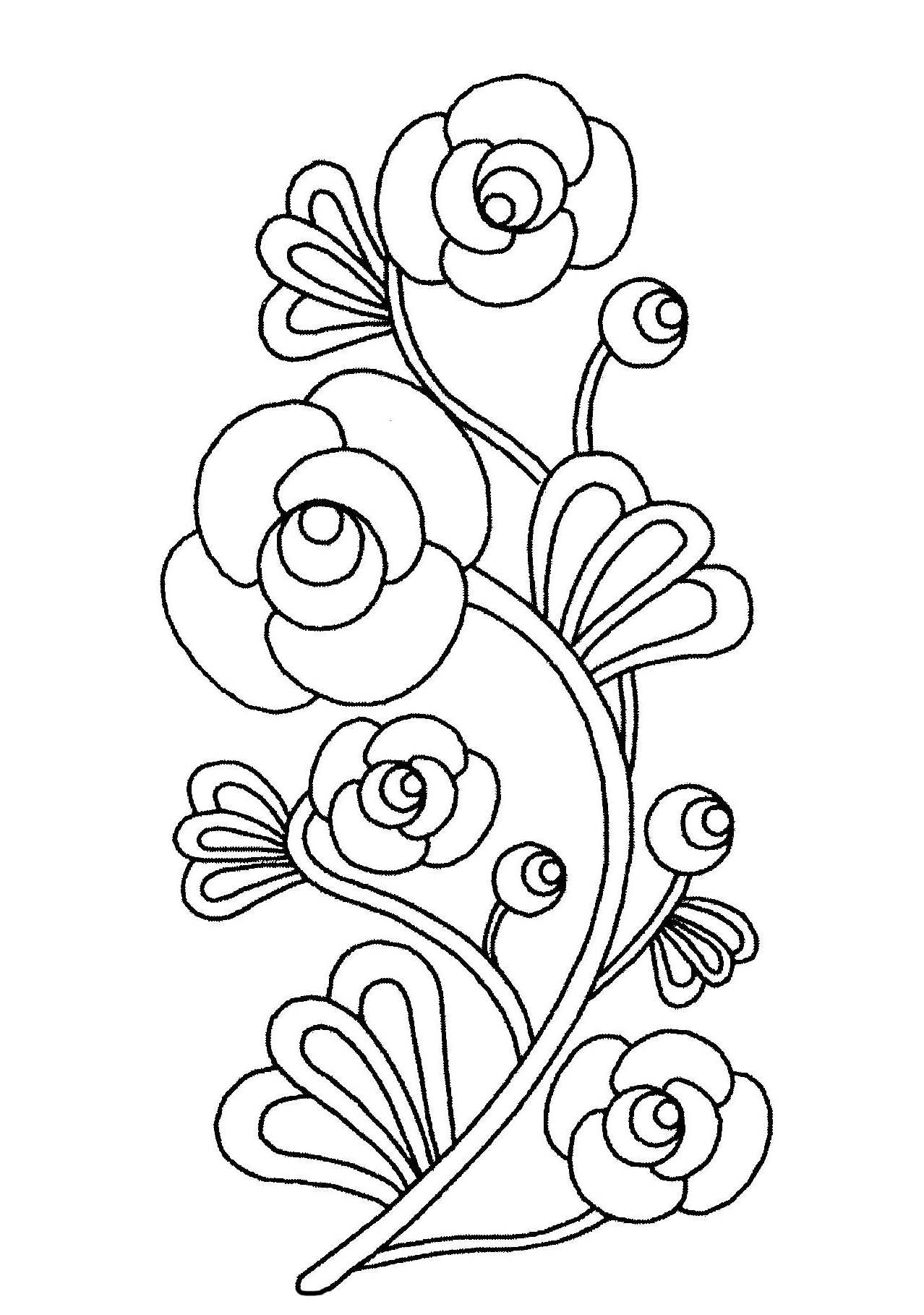 printable simple flower coloring pages beautiful flowers flowers coloring pages for kids to simple printable flower pages coloring