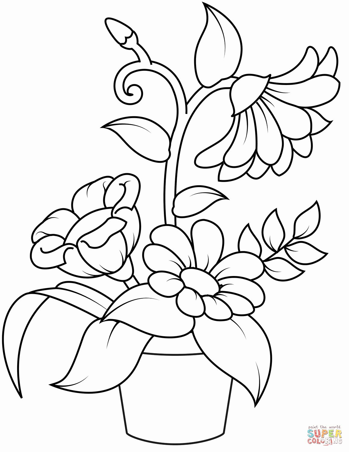 printable simple flower coloring pages best simple flower coloring pages to print coloring flower pages printable simple coloring